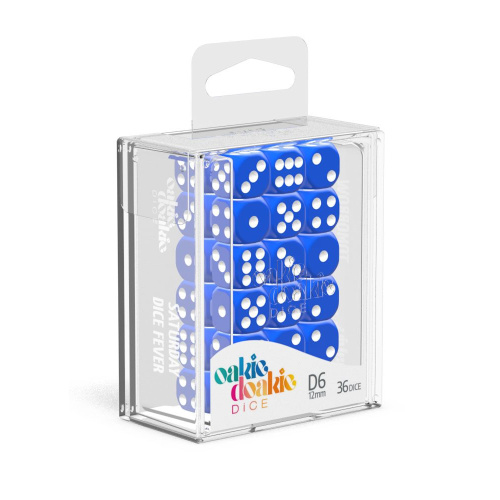 Oakie Doakie Dice W6 Würfel 12 mm Solid - Blau (36)