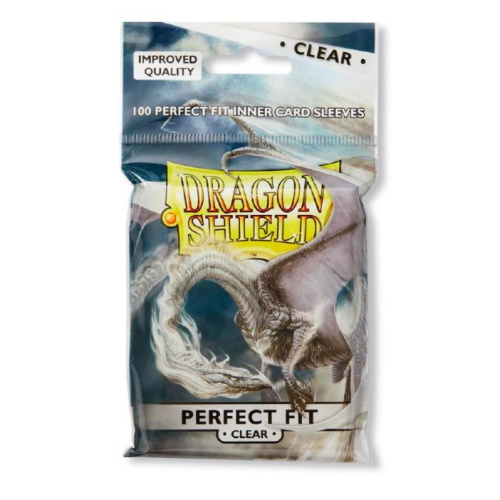 Perfect Fit Double Sleeves - Dragon Shield Clear
