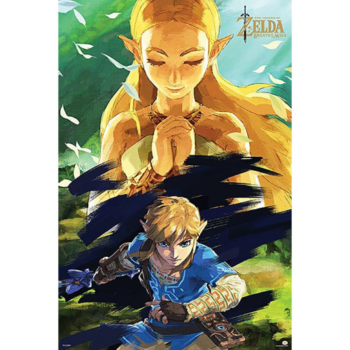 Poster - Fach 17: The Legend of Zelda Poster Breath Of...