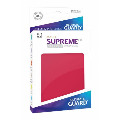 UG Supreme UX Sleeves Standardgröße Matt Rot (80)