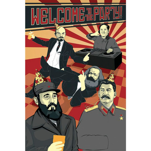 Poster - Fach 19: Welcome To The Party! Poster Kommunismus