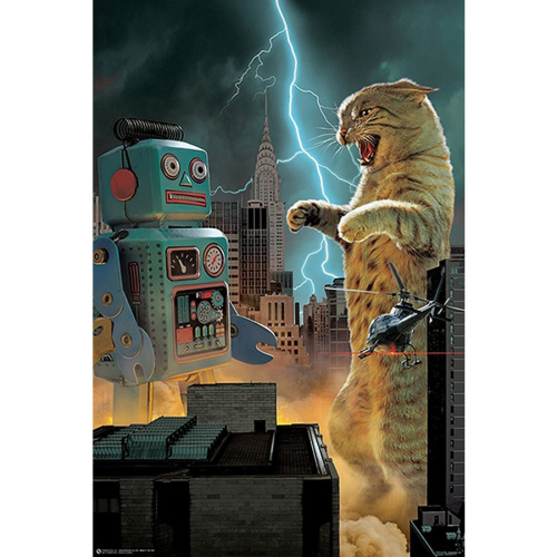 Fach 57 Catzilla VS Robot Poster