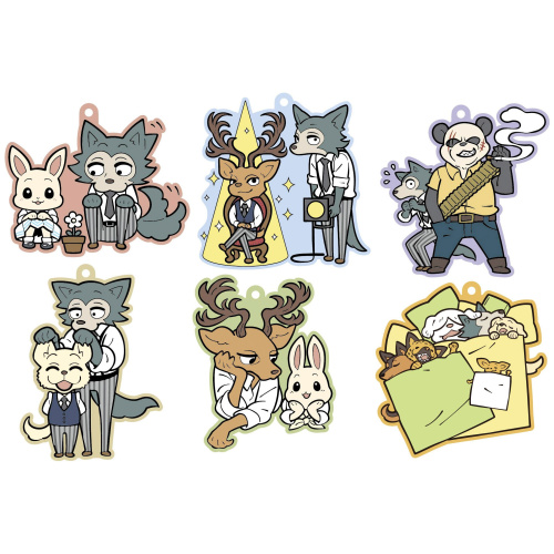 Beastars Gummi-Anhänger 6 cm Buddy Collection