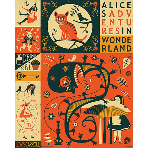 Poster - Fach 37: Alice in Wonderland Poster Illustration