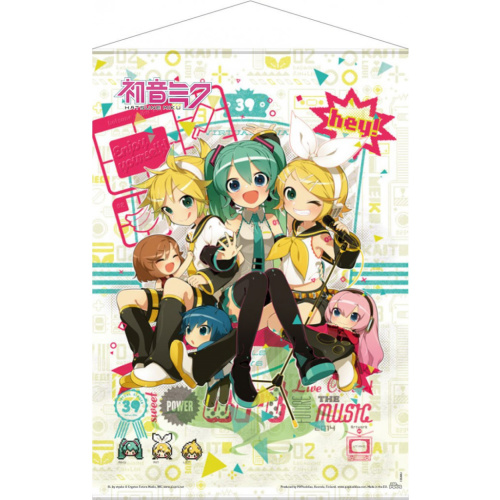 Vocaloid Wallscroll - Hey! Piapro Characters