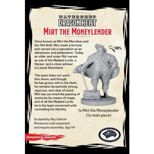 D&D Collector Series Mirt the Moneylender