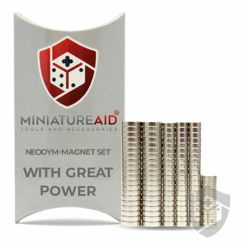 Miniature Aid With Great Power Neodym-Magnet-Set