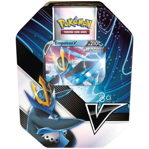 Pokémon - Empoleon/Tyranitar V Tin Englisch
