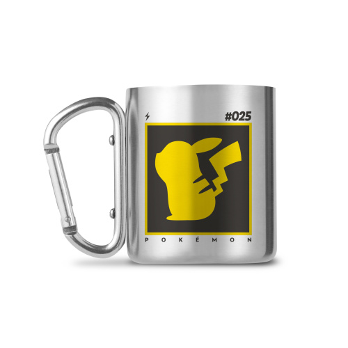 Pokémon Karabiner Pikachu Tasse aus Aluminium