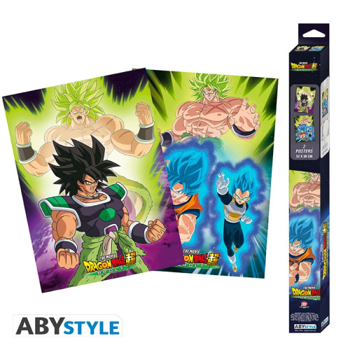 Dragon Ball Z Broly Posterset - 2 Poster