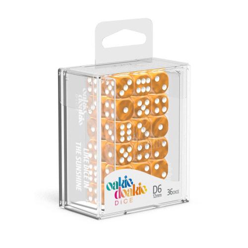 Oakie Doakie Dice W6 Würfel 12 mm Marble - Orange (36)
