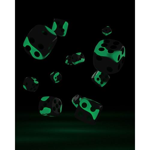 Oakie Doakie Dice W6 Würfel 12 mm Glow in the Dark -...