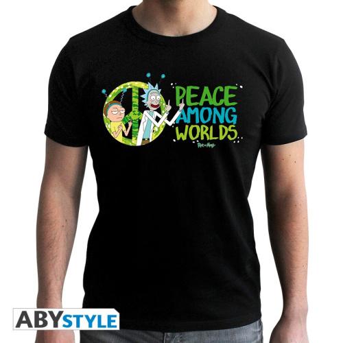 Rick & Morty - Peacy Among Worlds - Logo - T-Shirt