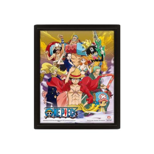 One Piece - Strohhüte 3D Rahmenbild