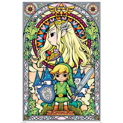 Poster - Fach 39: The Legend of Zelda - Kirchenfenster