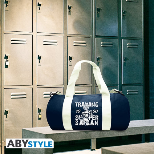 "DRAGON BALL - Sport bag ""Training to go Super Saiyan""- Navy/White"